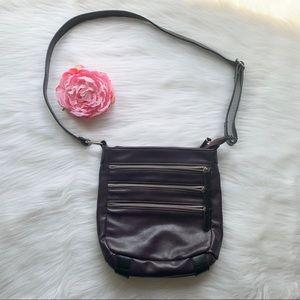 Bueno cross body purple purse, adjustable strap